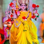 हँसदास मठ में नवरात्रि के तहत किया जा रहा दुर्गा सप्तशती का पाठ