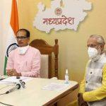प्रभारी मंत्री तुलसी सिलावट ने सीएम शिवराज को कोरोना संक्रमण से निपटने के उपायों की दी जानकारी